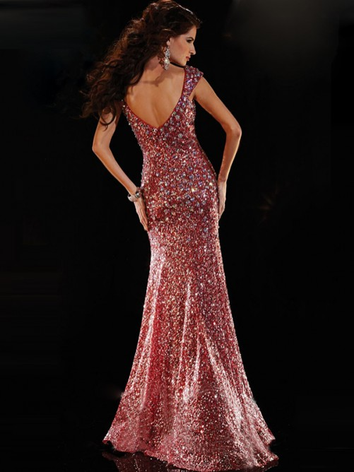 Trumpet/Mermaid Sleeveless Sweetheart Sequins Floor-Length Dresses