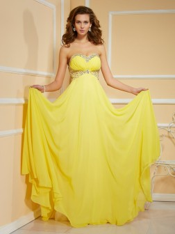 Sheath/Column Sweetheart Sleeveless Ruffles Ruched Floor-Length Chiffon Dresses
