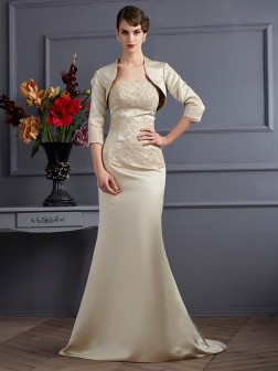 3/4 Sleeves Satin Applique Special Occasion Wrap