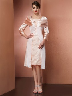 Long Sleeves Elastic Woven Satin Special Occasion Wrap