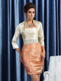 3/4 Sleeves Silk like Satin Special Occasion Wrap