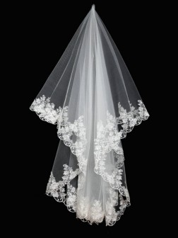 Net Applique Wedding Veils