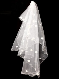 Applique Net Wedding Veils