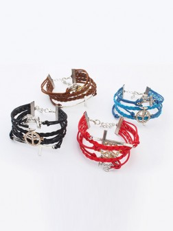Occident Retro Anchor Cruciate woven Bracelets