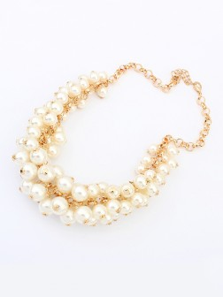 Occident Retro Palace Imitation pearls Necklace