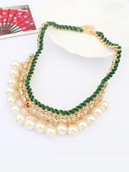 Occident all-match Pearls Temperament Necklace
