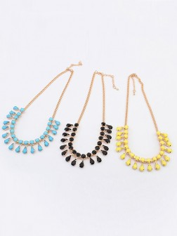 Occident all-match Water drop Temperament Necklace