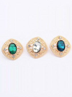 Occident Stylish Temperament Gemstone all-match Stud Earrings