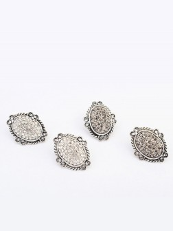 Occident Exotic Retro Oval Stud Earrings