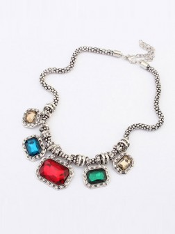 Occident Punk Retro Luxurious Gemstone Necklace
