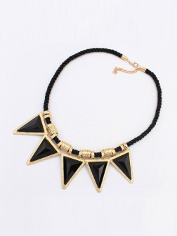 Occident Personality Triangle Major suit Street shooting Necklace