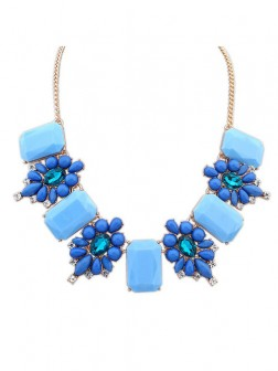 Occident Simple Stylish all-match Gemstone Necklace