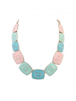 Occident Fashionable Elegant Blocks Temperament Necklace