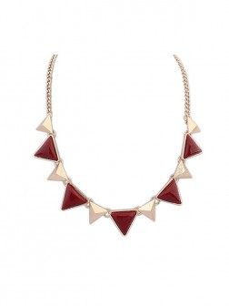 Occident Retro Punk Geometry Triangle Necklace