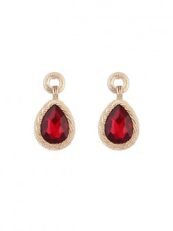 Occident All-match Water Drop Temperament Gemstone Earrings