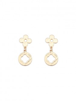 Occident Simple All-match Leaf clover Earrings