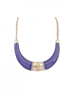 Occident Hyperbolic Ethnic Customs Semi-arc Necklace