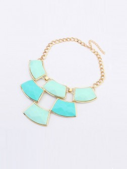 Occident Major Suit Blocks Geometry Stitching Necklace