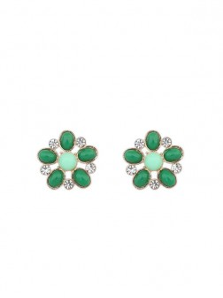 Occident Bohemia Big Flower Style Stud Earrings