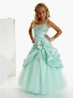 A-line/Princess Straps Sleeveless Beading Floor-length Satin Flower Girl Dresses