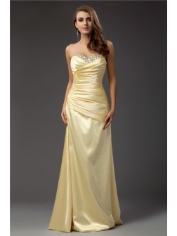 Sheath/Column Sweetheart Sleeveless Floor-length Taffeta Dresses