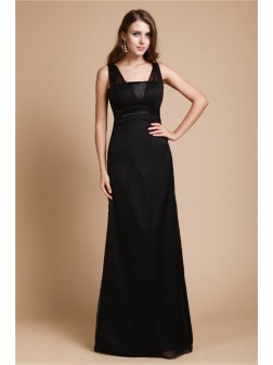Sheath/Column Belt Sleeveless Floor-length Chiffon Dresses