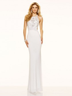 Trumpet/Mermaid Sleeveless Scoop Jersey Floor-Length Dresses