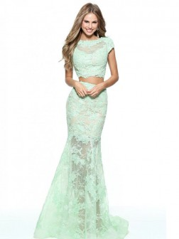 Sheath/Column Scoop Sleeveless Floor-Length Lace Dresses