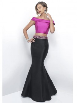 Trumpet/Mermaid Off-the-Shoulder Sleeveless Floor-Length Beading Taffeta Dresses