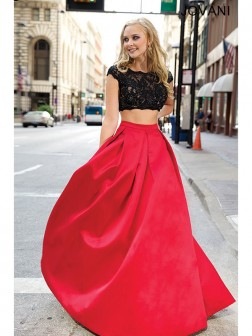 A-Line/Princess Scoop Sleeveless Beading Floor-Length Satin Dresses