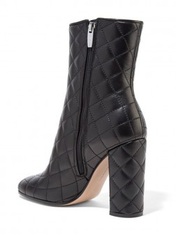 Women's PU Closed Toe Thick Heel Boots