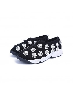 Women's Net Closed Toe Flat Heel Casual Fashion Sneakers