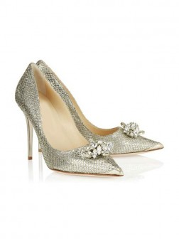 Women's Closed Toe Stiletto Heel With Rhinestone Evening Shoes