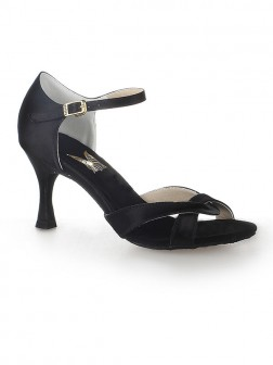 Women's Satin Peep Toe Stiletto Heel With Buckle Dance Shoes