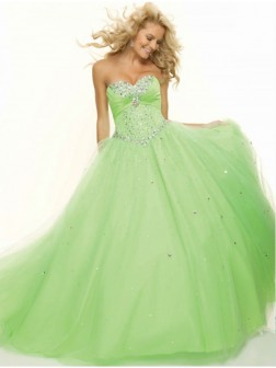 Ball Gown Sweetheart Sleeveless Beading Ruffles Organza Satin Dress