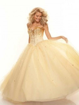 Sweetheart Ball Gown Sleeveless Chiffon Floor-length Beading Dress