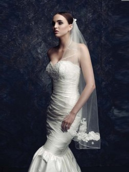 Tulle Embroidery Wedding Veils
